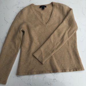 100% Cashmere Tan Sweater